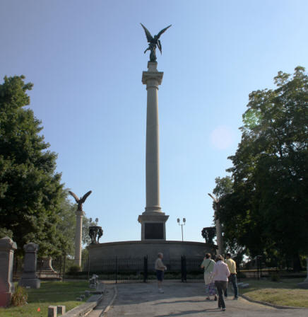 Lovejoy Monument on Alton, Illinois's Lincoln Trail.