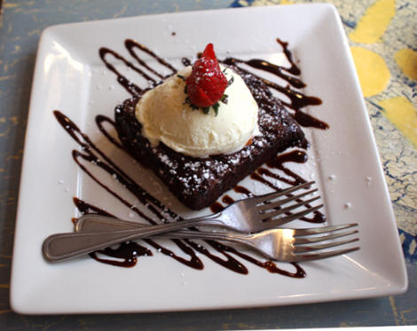 Brownie a la mode at The Summer Kitchen in Rosemary Beach, FL