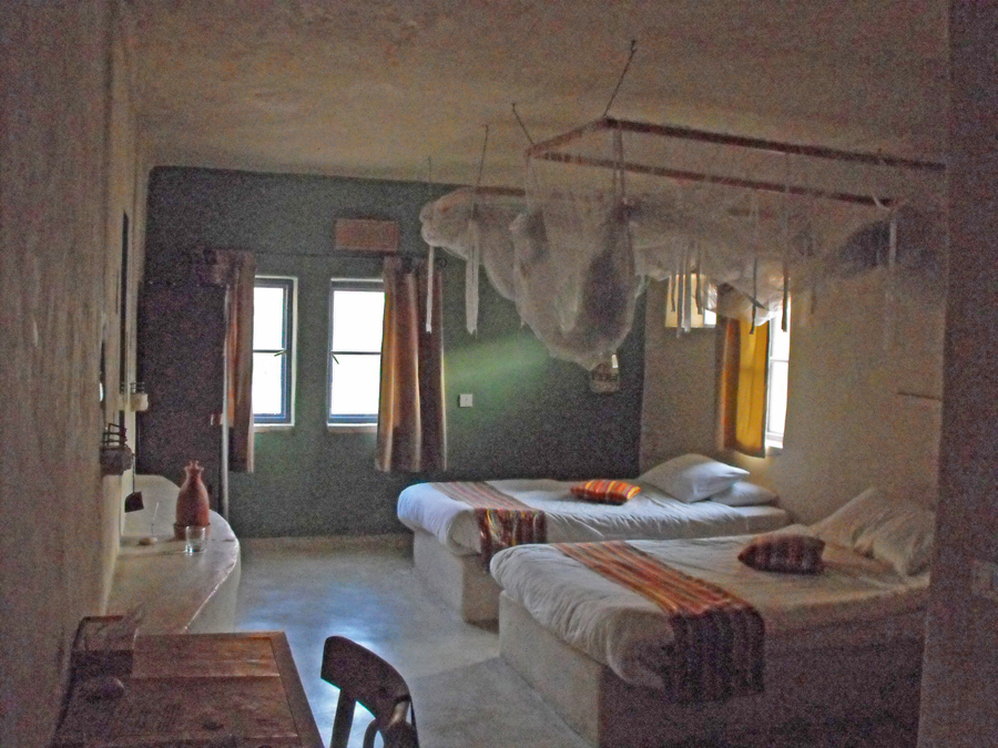 my room at Feynan Eco Lodge in the Dana Biosphere Reserve