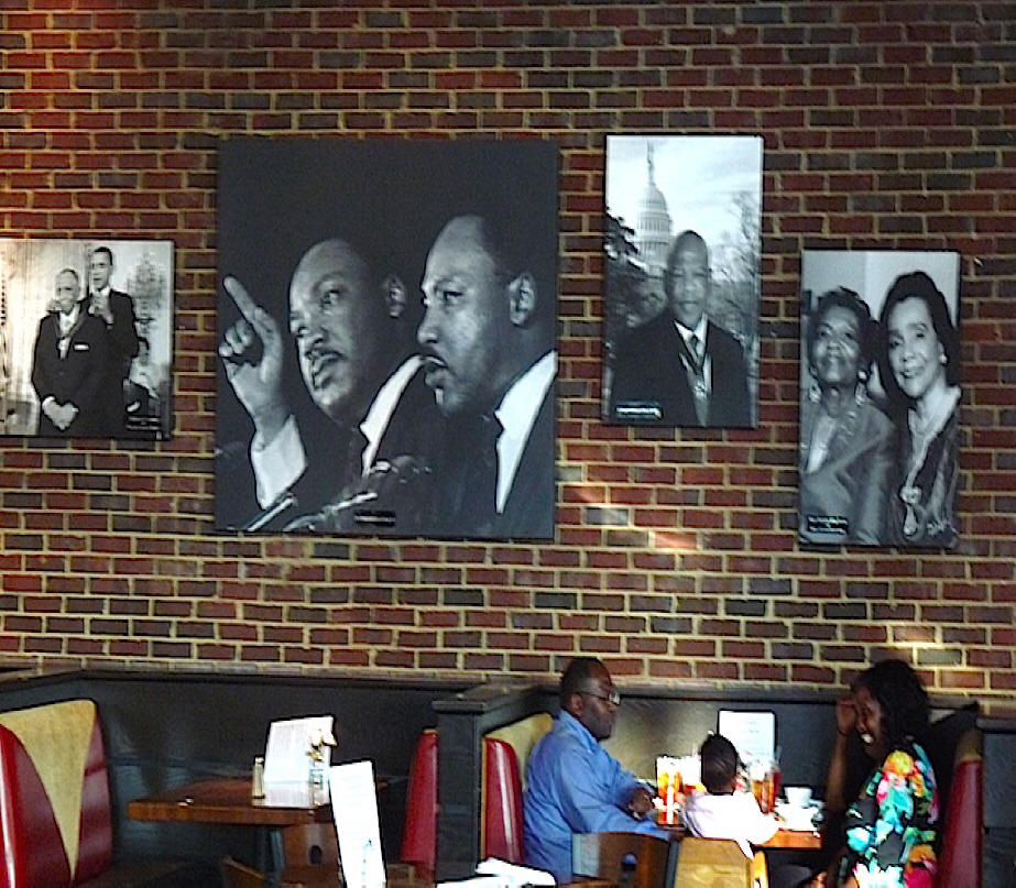 Paschal's Restaurant with Civil Rights leaders pictures on the wall