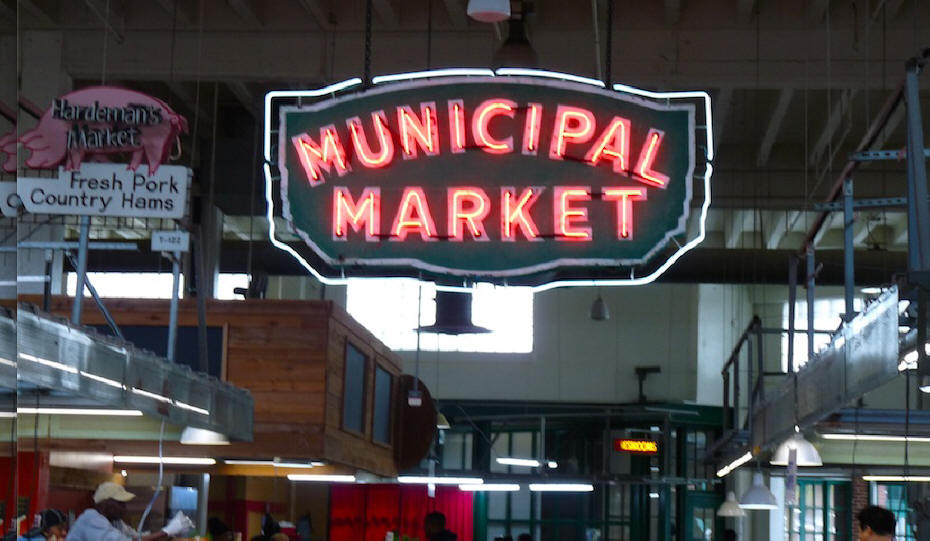 Sign for Municipal Market