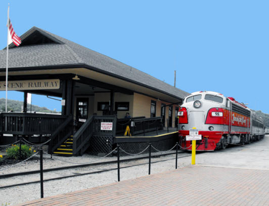 The Scenic Railroad and historic depot in Branson Missouri