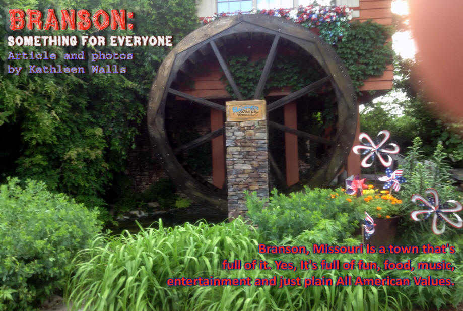 Waterwheel at Silver Dollar City in Branson Missouri