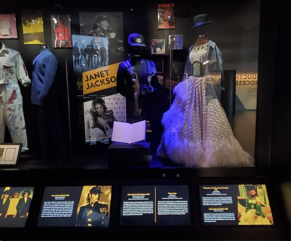 Janet Jackson exhibit at Cleveland Rock and Roll Hall of Fame