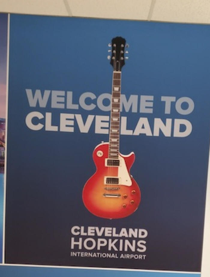 picture of guitarwelcoming you to cleveland
