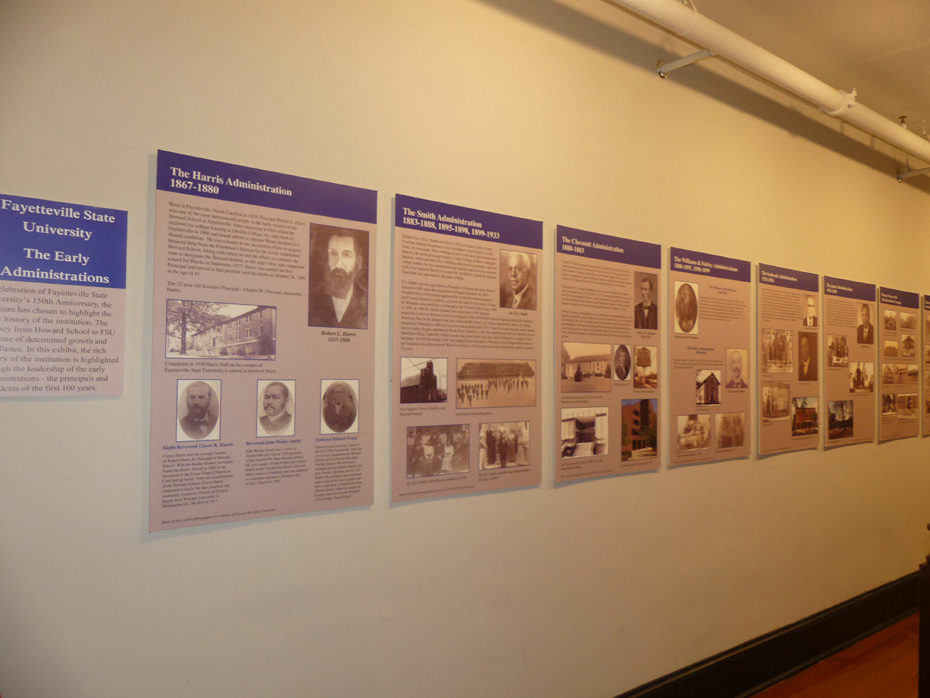 Exhibit about Howard School at Transportation Museum in Fayetteville
