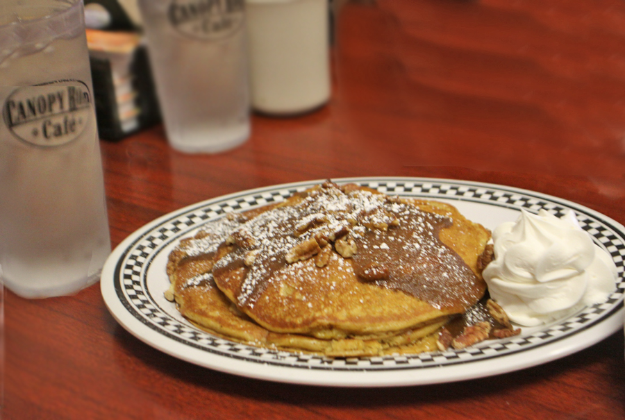 Sweet potatoe pancakes at Canopy Road in Tallahassee, FL