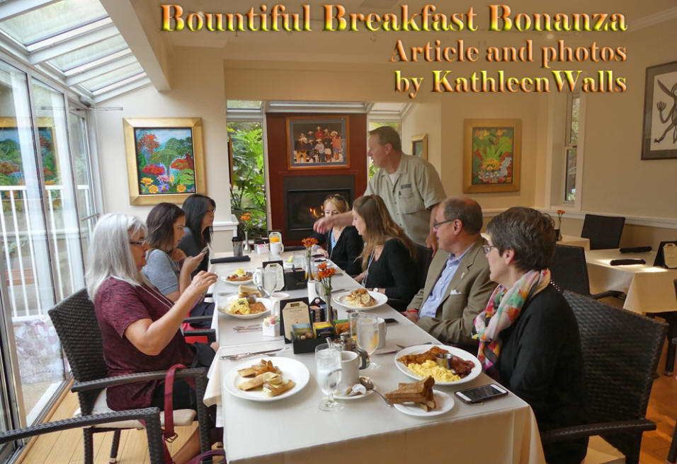 Breakfast                                 table with guests as <h1>Dinah's Poolside                                 Restaurant in Palo Alto, CA</h1>