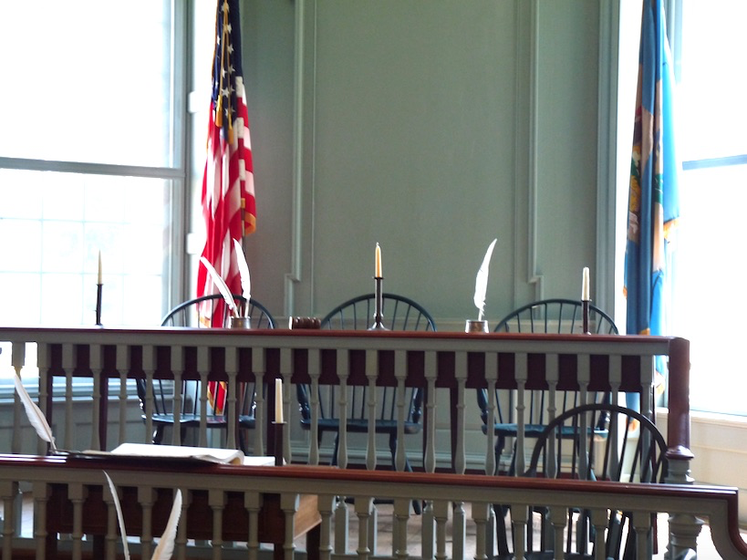 Dover Old Statehouse courtroom