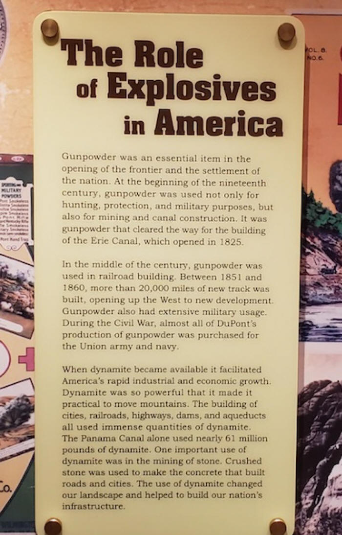 sign telling of gunpoweruse in american frontier