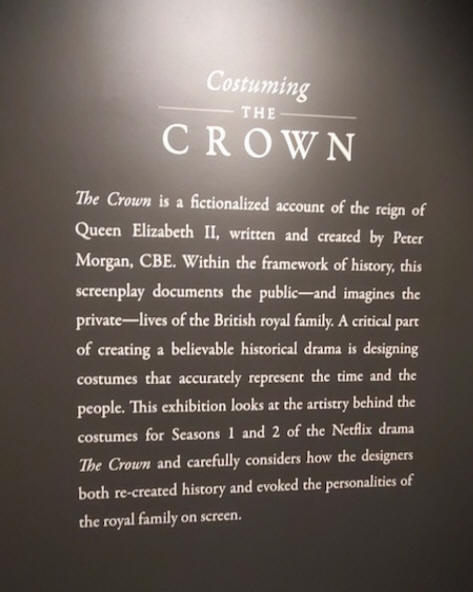 sign about netflix drama The crown
