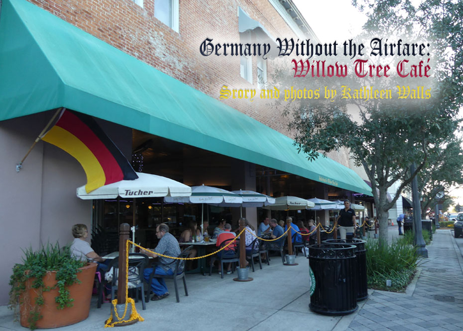 Patio dining at Hollerbach's Willow Tree Cafe in Sanford, FL