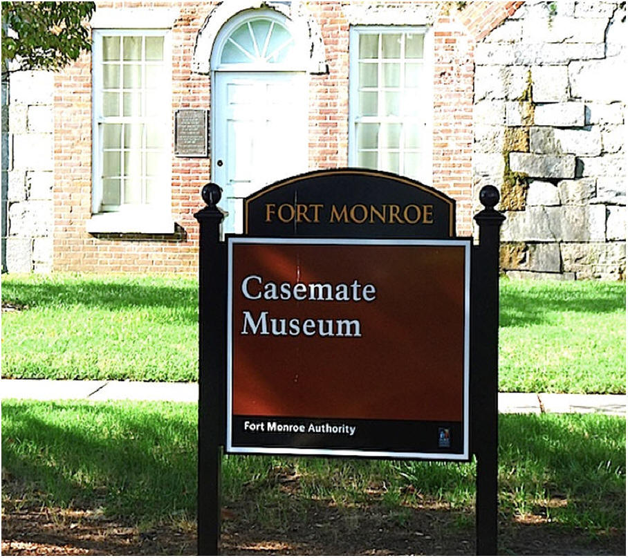fort Monroe casemate museum sign