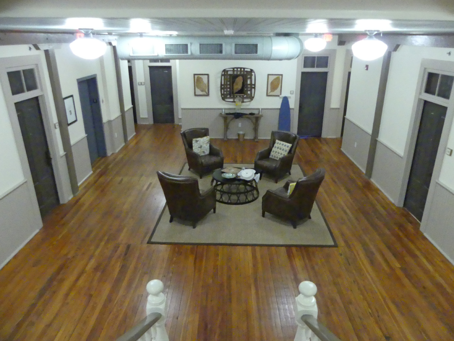 Second floor hall at  Florence Hotel