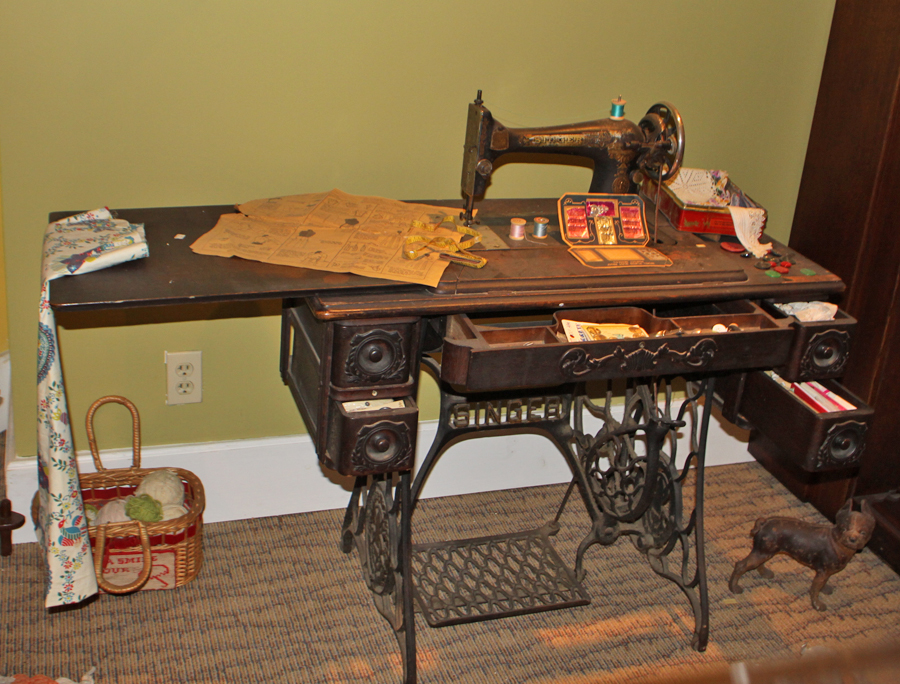 singer treadle sewing machine in the Ritz musuem