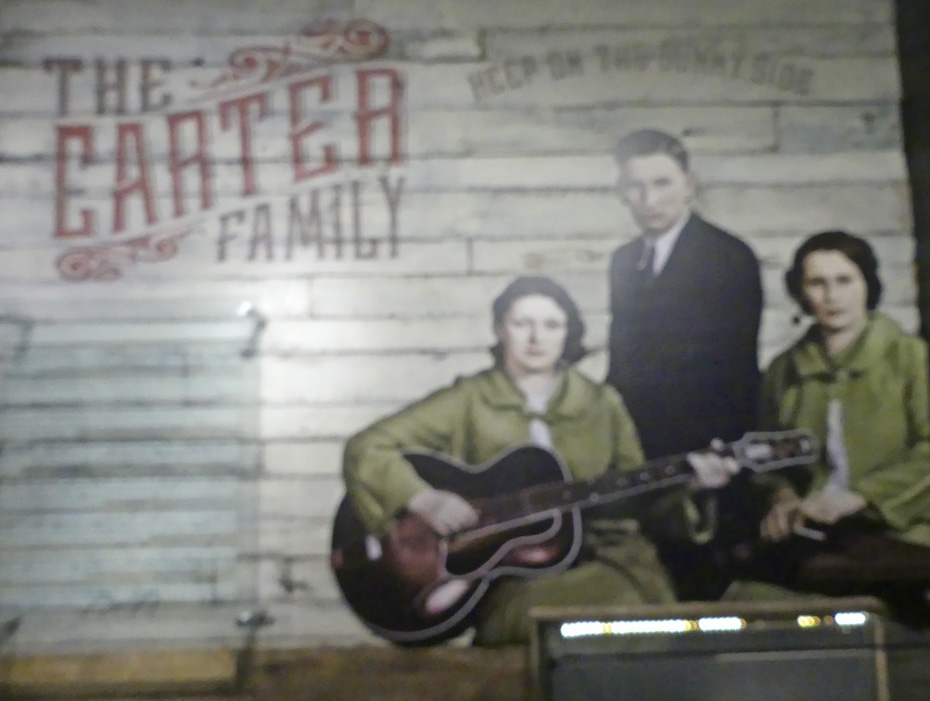 Exhibit in Johnny Cash museum about Carter family