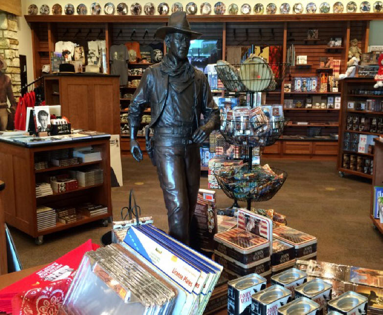 Sytature of John Wayne in his Museum in Madison coujnty