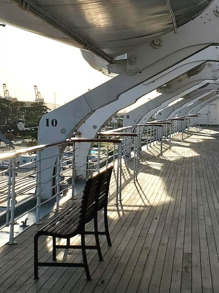 deck of Queen Mary