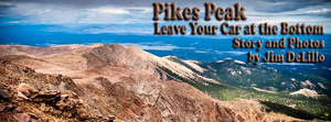 View from Pikes Peak with title