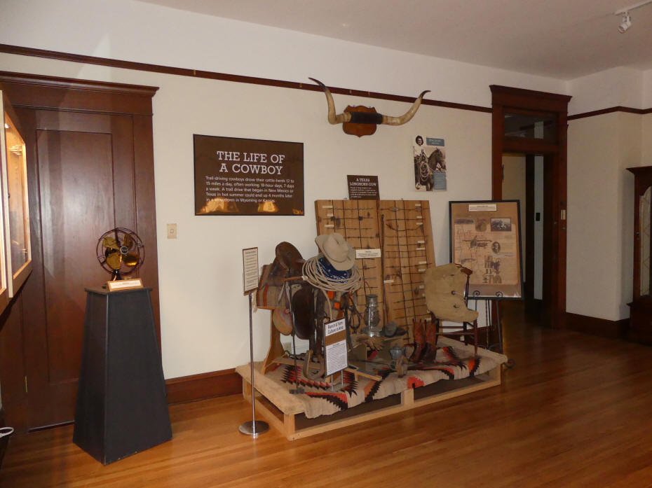 cowboy exhibit at Historical Center for Southeast New Mexico