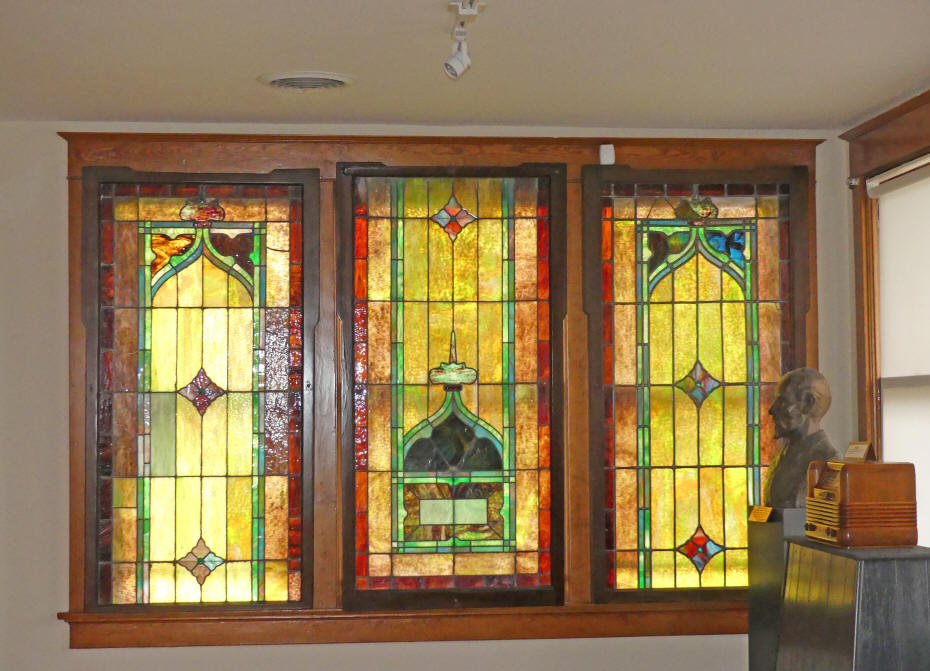stained glass windows at Historical Center for Southeast New Mexico