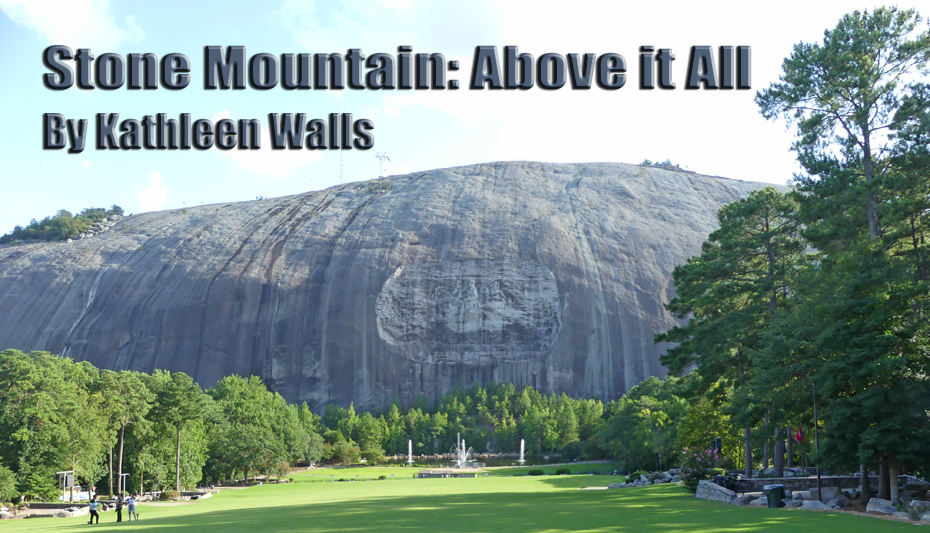 stone mountain with carvings
