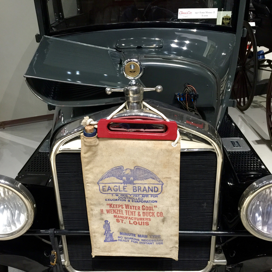 1927 Ford model T with a water bag