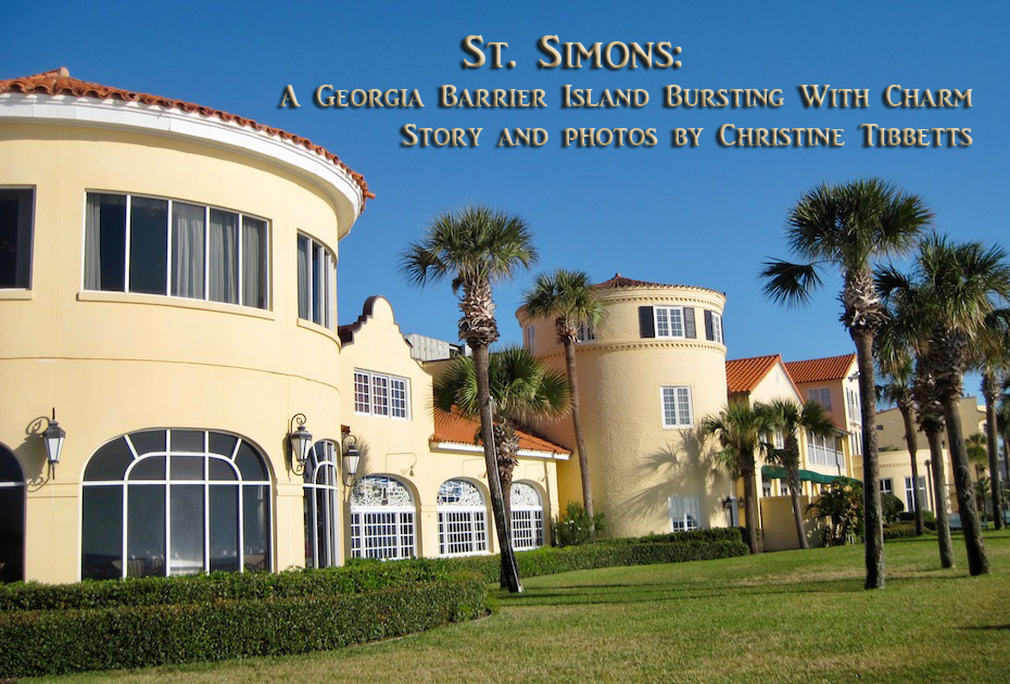 St. Simons Island's fabled historic hotel the King and Prince stretches the width of the beach.