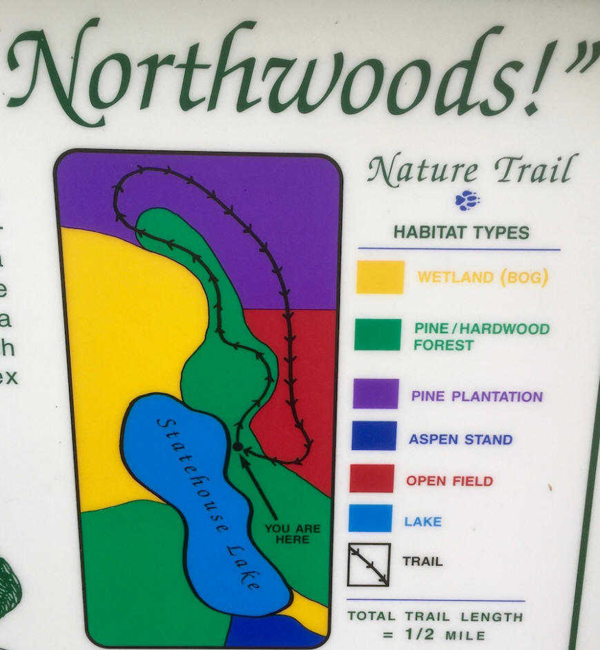 nature trails map in wisconsin Northwoods