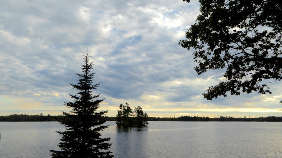 view over lake in wisconsin Northwoods