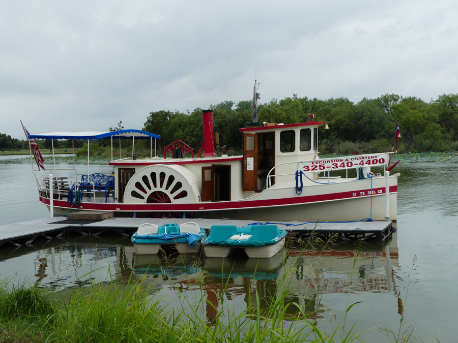 The Tule Princess at dock on Spring creek