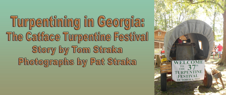 Title and  covered wagon announcing turpintine festival