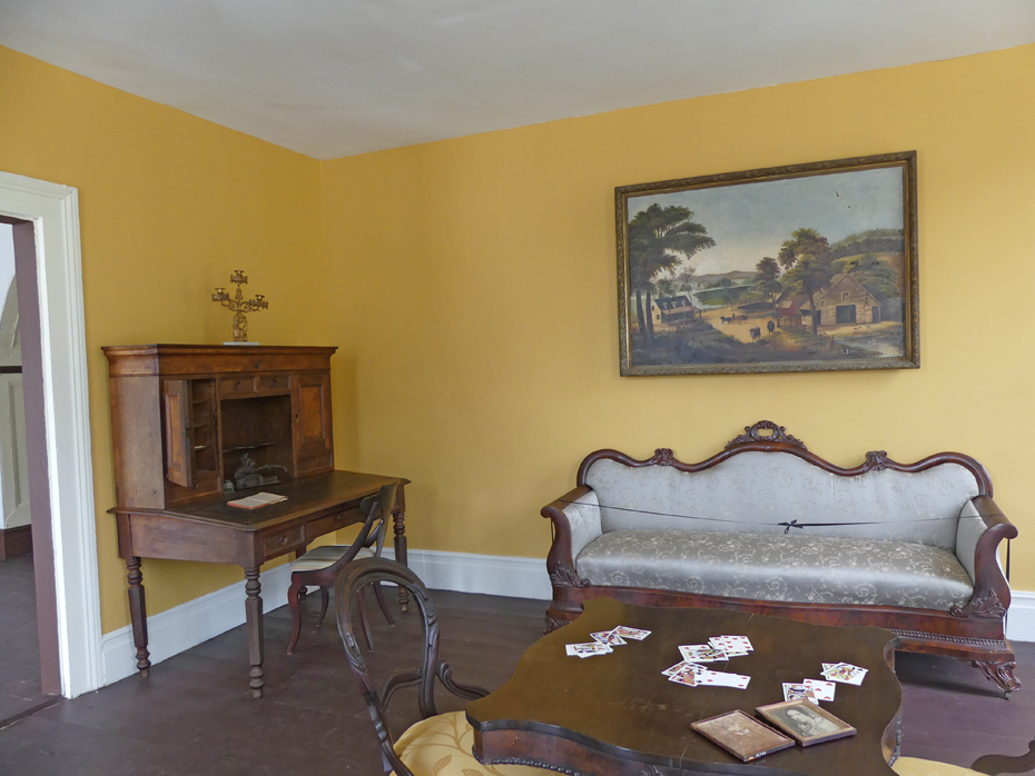 living room in 19th century house at westville