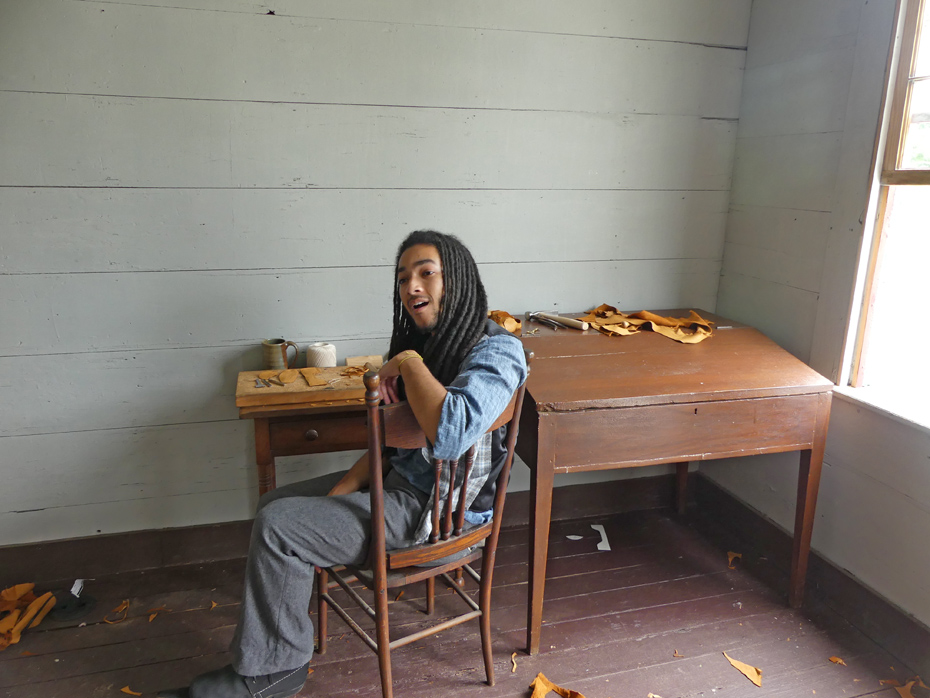 young man shoe maker docent at westville