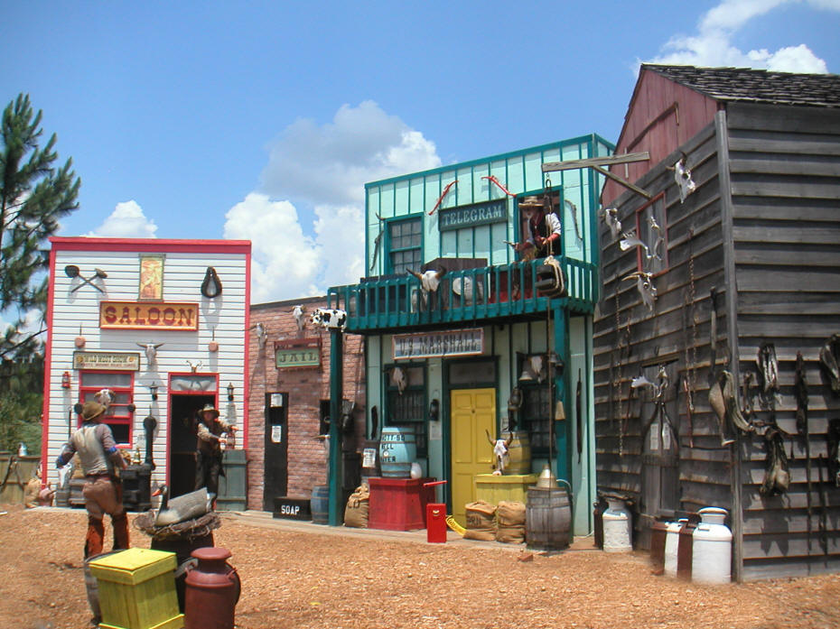 old west town at Wild Adverntures