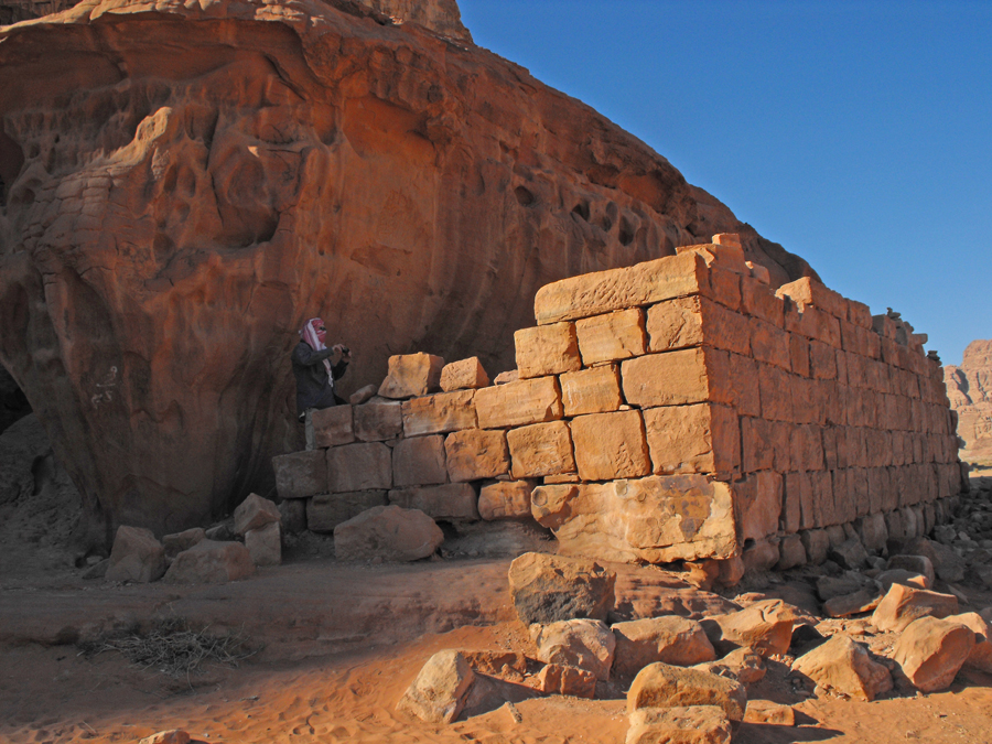 remains of a structur claimed to be Lawrence's house in Wadi Rum