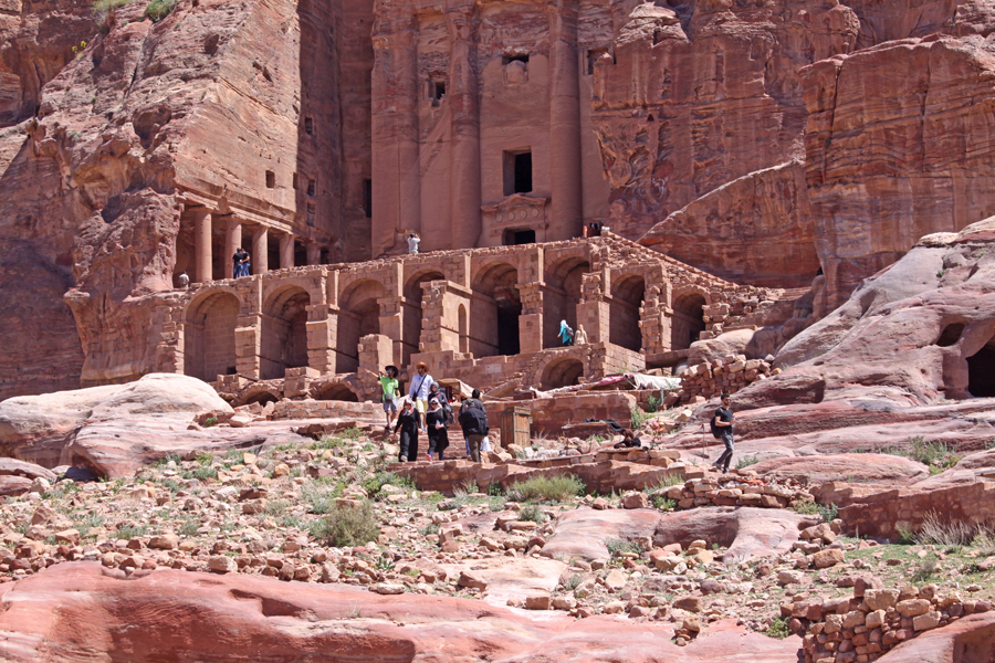 One of the many buildings at Petra